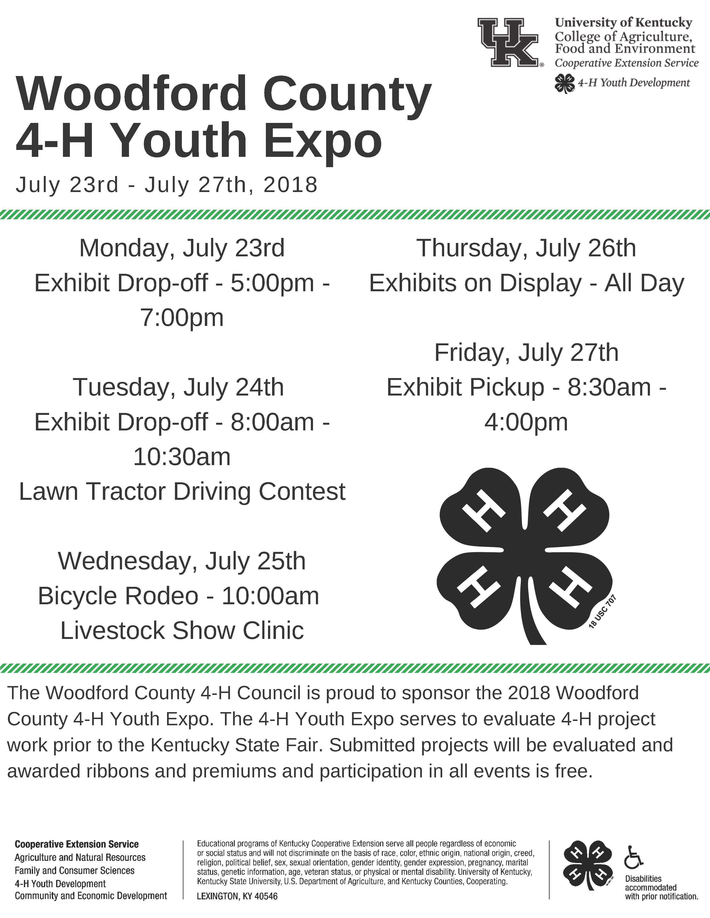 Woodford County 4-H Youth Expo | Woodford County